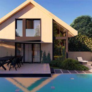 Фото 23 - Z470 - Проект просторного мансардного дома с панорамным остеклением.