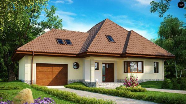 Фото 1 - Z48 - Просторный функциональный дом сложной формы.
