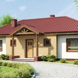 Фото 20 - Z5 - Симметричный одноэтажный дом с многоскатной кровлей.