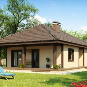 Фото 19 - Z55 - Проект компактного функционального дома с боковой террасой.