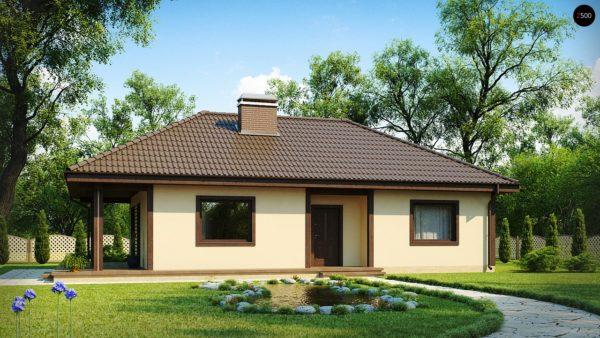 Фото 2 - Z55 - Проект компактного функционального дома с боковой террасой.
