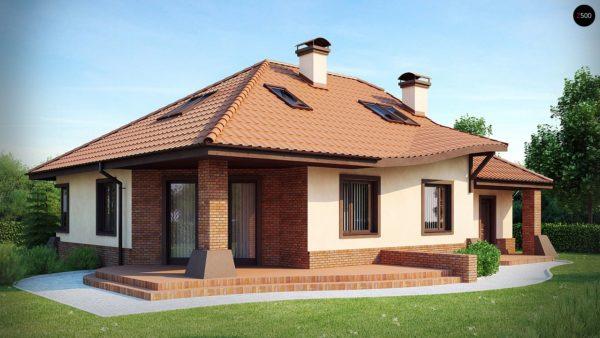Фото 1 - Z56 - Просторный дом с гаражом, большим хозяйственным помещением и угловой террасой.