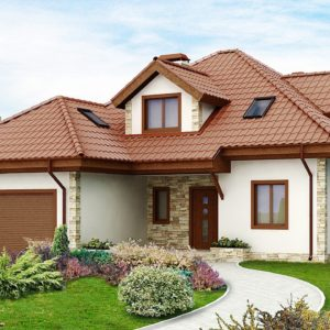 Фото 28 - Z58 - Проект просторного и уютного дома с гаражом, эркером, красивыми мансардными окнами.