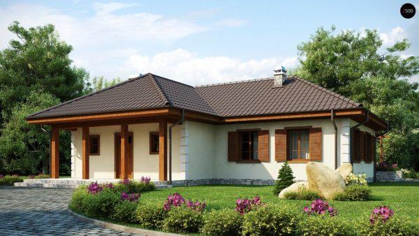 Фото 2 - Z6 - Добротный практичный одноэтажный дом с возможностью обустройства мансарды.