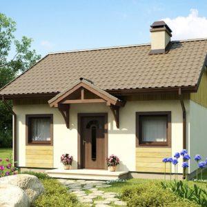 Фото 25 - Z60 - Выгодный в строительстве и эксплуатации маленький одноэтажный дом с крытой террасой.
