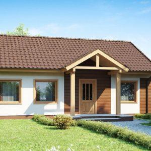 Фото 23 - Z61 - Аккуратный одноэтажный дом простой формы с двускатной крышей.