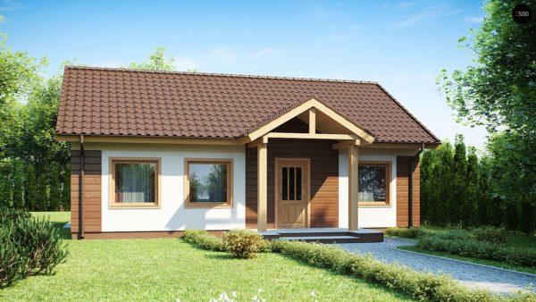 Фото 1 - Z61 - Аккуратный одноэтажный дом простой формы с двускатной крышей.
