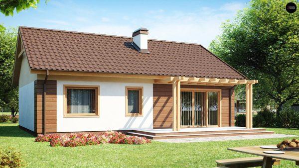 Фото 2 - Z61 - Аккуратный одноэтажный дом простой формы с двускатной крышей.