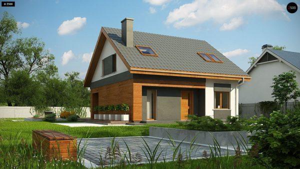 Фото 1 - Z62 A minus - Традиционный дом с мансардой и терассой в современном стиле.