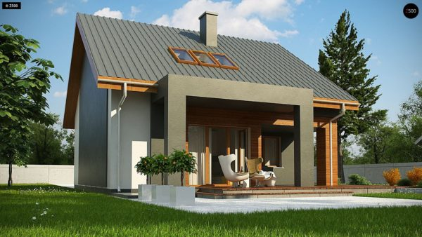 Фото 3 - Z62 A minus - Традиционный дом с мансардой и терассой в современном стиле.