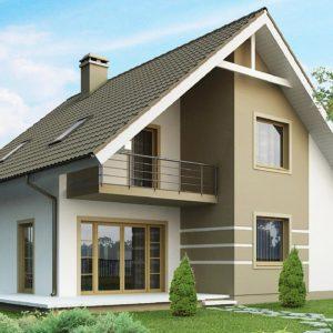 Фото 26 - Z62 - Стильный дом с мансардой, экономичный в строительстве и эксплуатации.