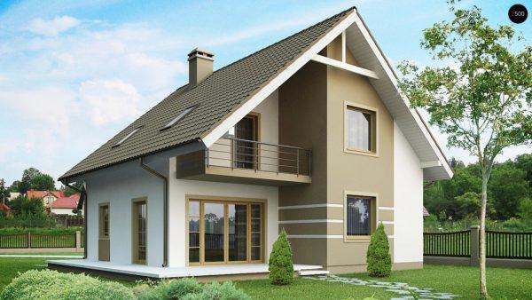 Фото 1 - Z62 - Стильный дом с мансардой, экономичный в строительстве и эксплуатации.