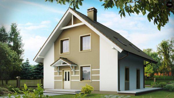 Фото 2 - Z62 - Стильный дом с мансардой, экономичный в строительстве и эксплуатации.