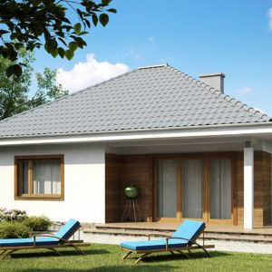 Фото 24 - Z64 - Проект одноэтажного практичного и уютного дома с крытой террасой.