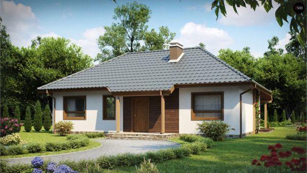 Фото 1 - Z69 dk - Проект одноэтажного классического дома адаптированного для каркасной технологии строительства.
