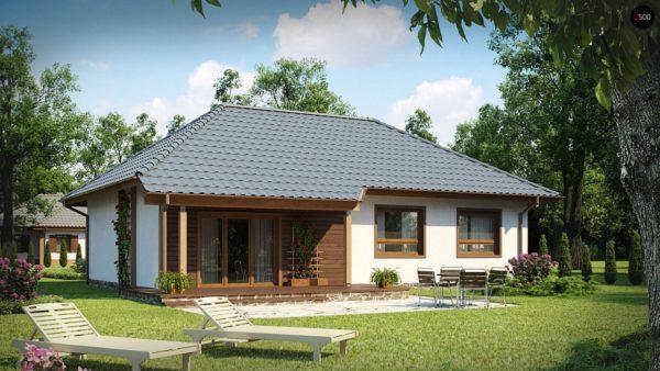 Фото 2 - Z69 dk - Проект одноэтажного классического дома адаптированного для каркасной технологии строительства.