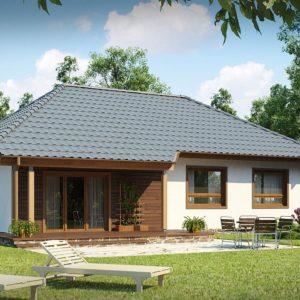 Фото 23 - Z69 - Проект практичного одноэтажного дома в традиционном стиле.