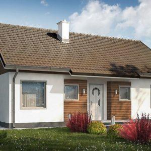 Фото 25 - Z7 35 S - Проект небольшого одноэтажного дома в европейском стиле с двускатной кровлей.
