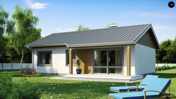 Фото 1 - Z7 - Компактный дом с двускатной крышей — выгодный, функциональный и практичный.
