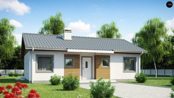 Фото 2 - Z7 - Компактный дом с двускатной крышей — выгодный, функциональный и практичный.