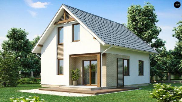 Фото 2 - Z71 - Практичный функциональный дом, недорогой в строительстве и эксплуатации.