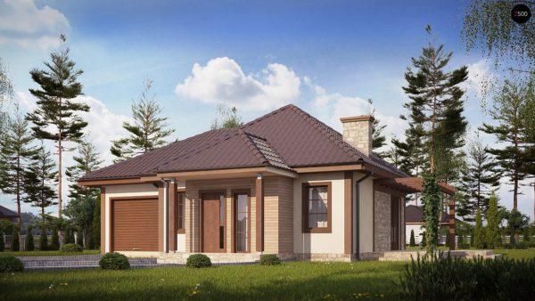 Фото 1 - Z73 L GL - Зеркальная версия проекта Z73 с гаражом с левой стороны дома.