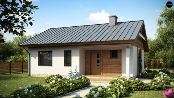 Фото 1 - Z78 - Аккуратный небольшой одноэтажный дом простой конструкции с кухней со стороны сада.