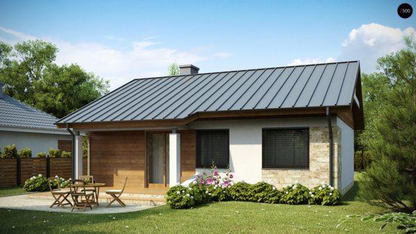 Фото 2 - Z78 - Аккуратный небольшой одноэтажный дом простой конструкции с кухней со стороны сада.