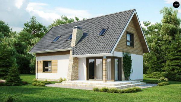 Фото 1 - Z79 - Традиционный дом простой формы с двускатной крышей, с дополнительной комнатой на первом этаже.