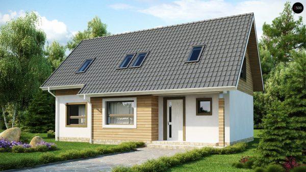 Фото 2 - Z79 - Традиционный дом простой формы с двускатной крышей, с дополнительной комнатой на первом этаже.