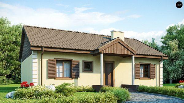 Фото 1 - Z8 - Выгодный и простой в строительстве дом полезной площадью 100 м2.