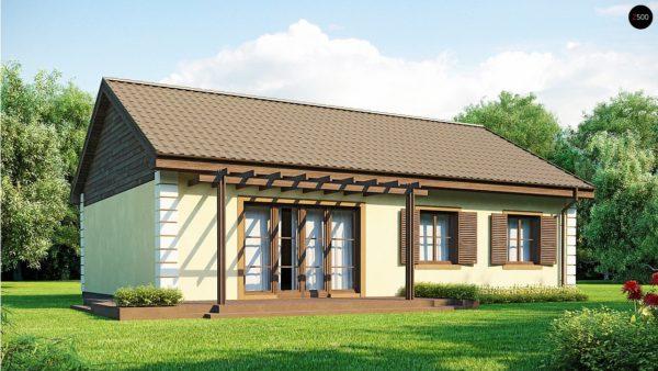 Фото 2 - Z8 - Выгодный и простой в строительстве дом полезной площадью 100 м2.