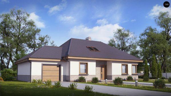 Фото 1 - Z84 GL - Современный дом с гаражом.