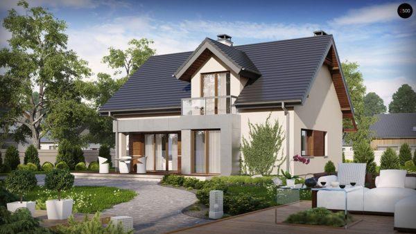 Фото 1 - Z89 - Традиционный дом с современными элементами архитектуры.