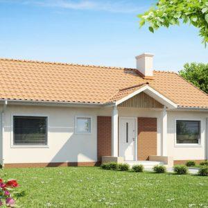 Фото 25 - Z91 - Одноэтажный дом простой формы с двускатной крышей.