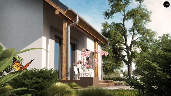 Фото 3 - Z92 - Проект практичного дома с большим хозяйственным помещением, с кабинетом на первом этаже.