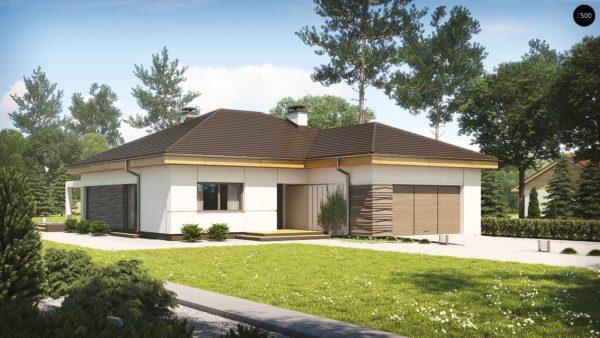 Фото 1 - Z96 tz - Вариант проекта Z96 с измененной формой крыши и с крытой террасой.