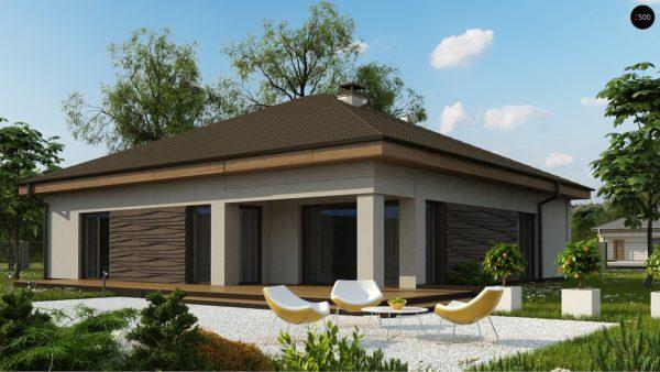 Фото 2 - Z96 tz - Вариант проекта Z96 с измененной формой крыши и с крытой террасой.