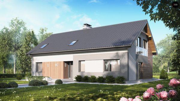 Фото 1 - Z97 - Проект двухсемейного дома с отдельной удобной «квартирой» площадью 58 м2.