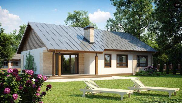 Фото 1 - Z98 - Проект выгодного одноэтажного дома с возможностью адаптации чердачного помещения.