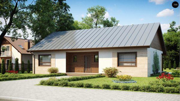 Фото 2 - Z98 - Проект выгодного одноэтажного дома с возможностью адаптации чердачного помещения.