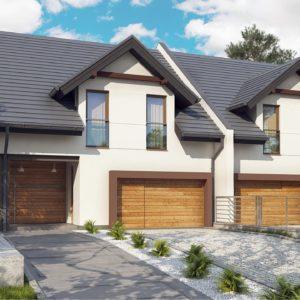 Фото 1 - Zb12 - Дома близнецы элегантного дизайна со встроенным гаражом.