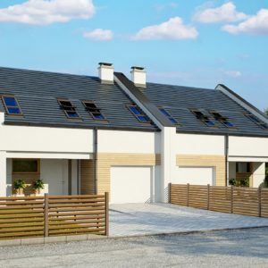 Фото 2 - Zb13 - Проект домов для симметричной застройки стильного современного дизайна.