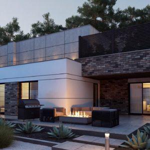 Фото 2 - Zb22 - Современный большой дом с плоской крышей.