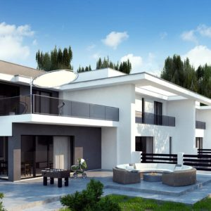 Проекты домов с гаражом на 2 автомобиля