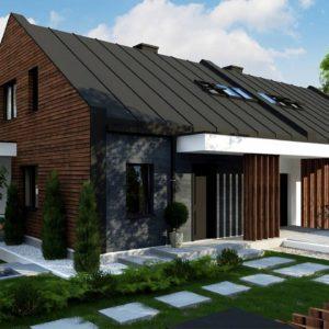 Фото 9 - Zb29 - Современный двухсемейный дом с двускатной крышей.