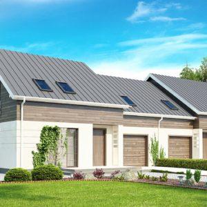 Фото 1 - Zb3 - Простой и удобный дом для симметричной застройки с боковым гаражом.