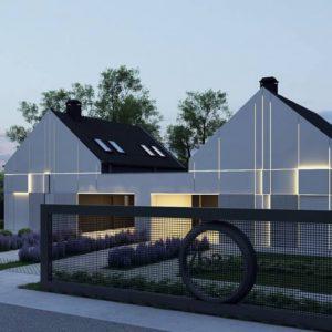 Фото 11 - Zb37 - Современный двухсемейный дом с двускатной крышей.