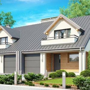 Фото 2 - Zb4 - Проект стильного, функционального и недорогого двухсемейного дома.