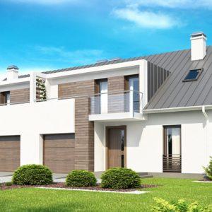 Фото 4 - Zb6 - Современный дом для симметричной застройки с гаражом и дополнительной спальней на первом этаже.